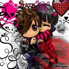 Anime chibis emo boy and girl cute pinterest anime chibis emo boy and girl voltagebd Choice Image