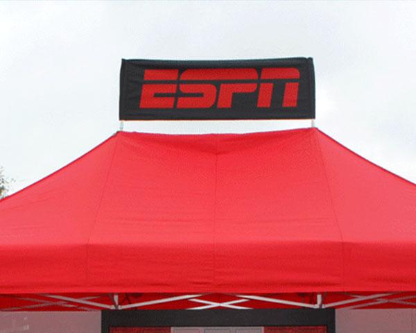 Custom printed peak banner for ESPN.