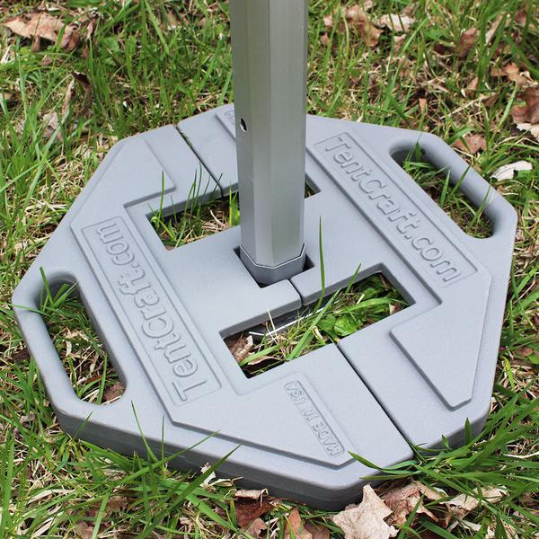 TentCraft cast-iron footplate on ground.