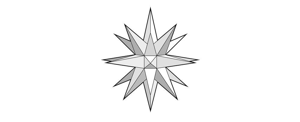 26 point paper moravian star