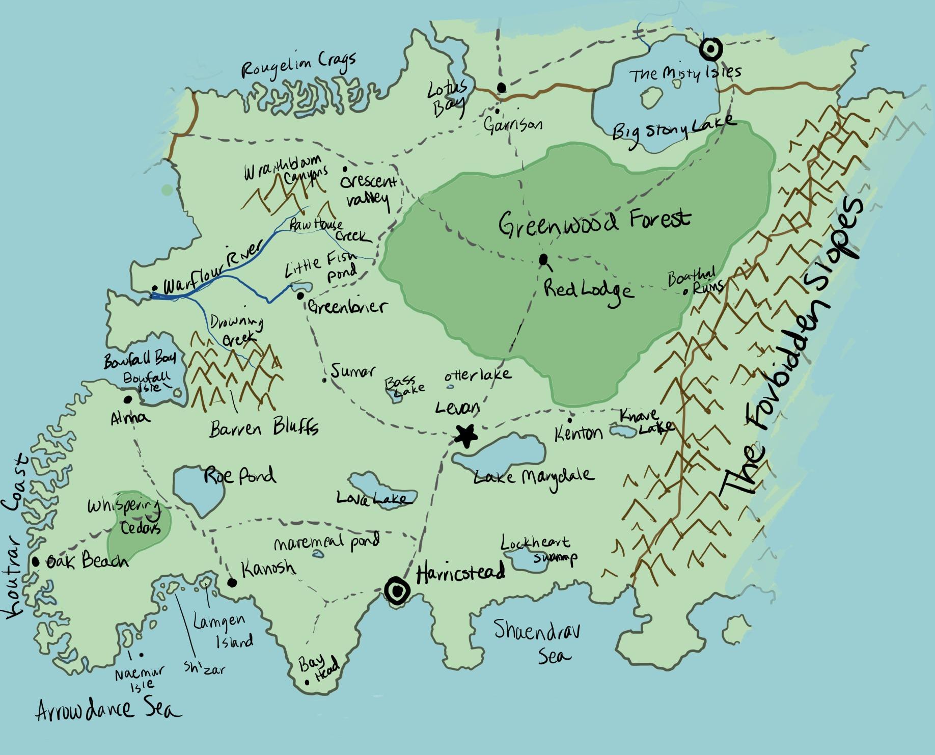 Baros landmarks map