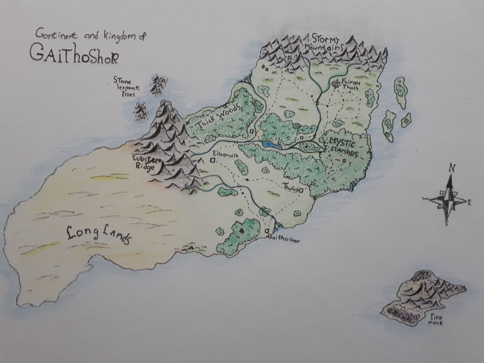 Map of sharofoi  drawn