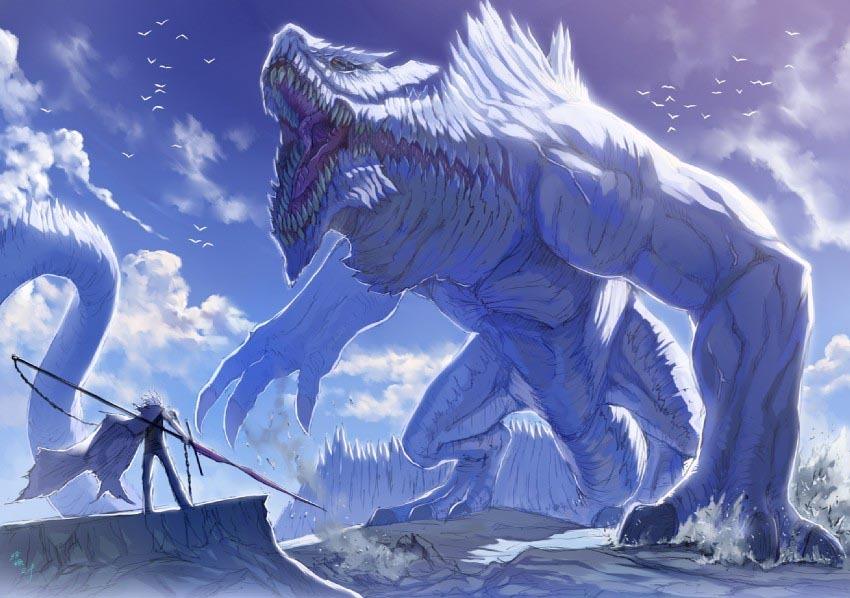 Godlike monster art mountain monster