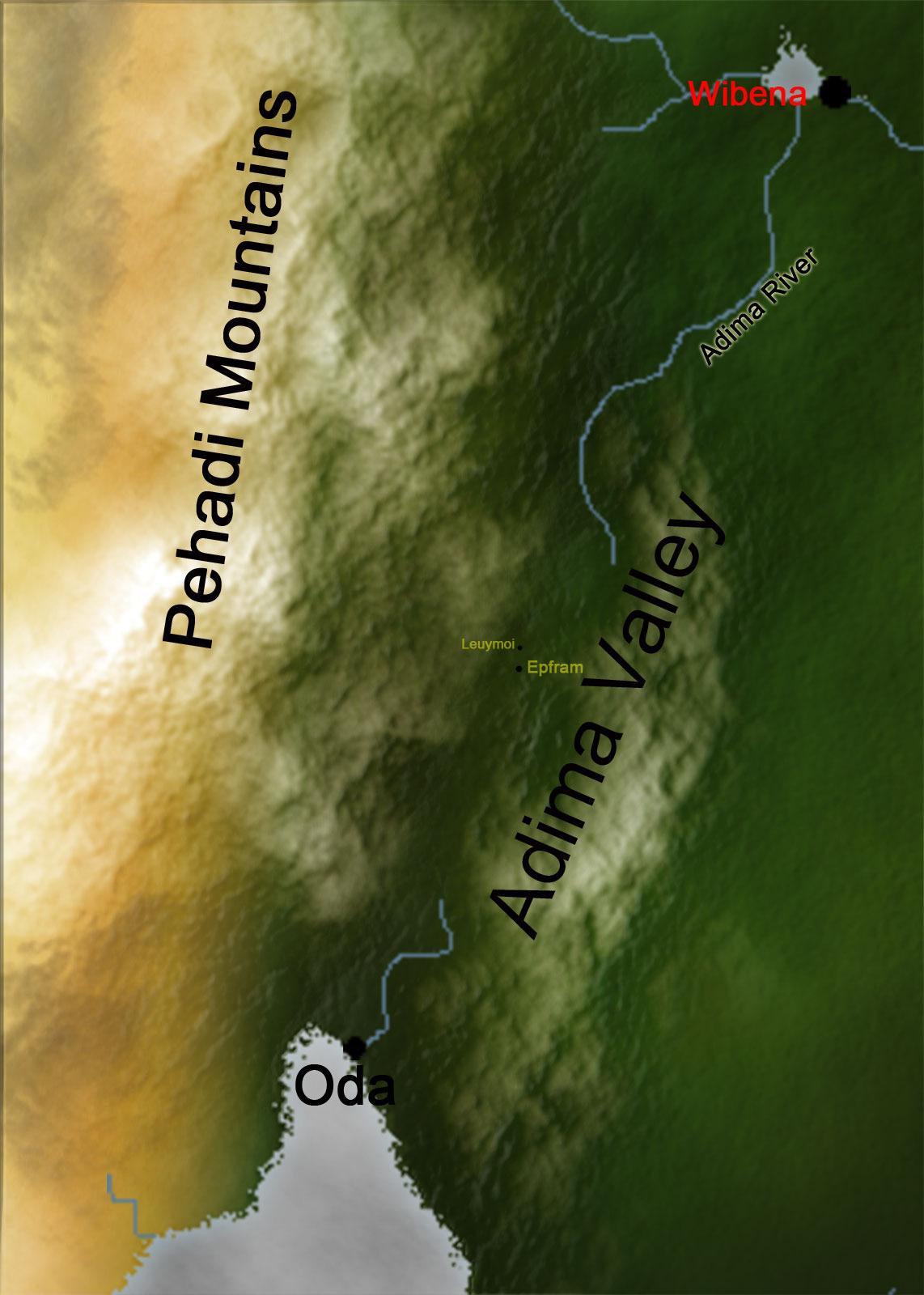 Adima river closeup