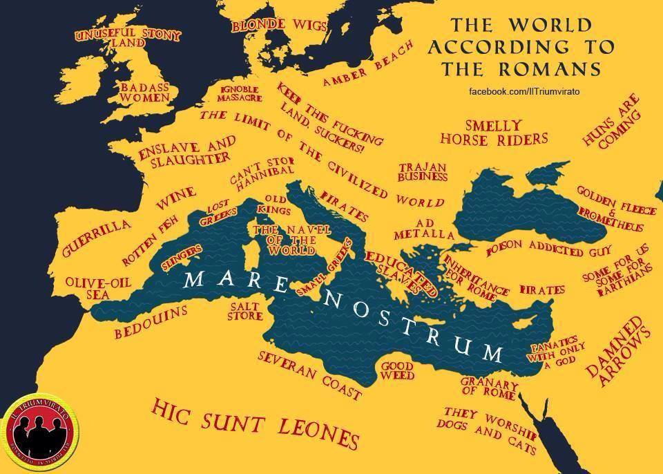 The real ancient map of roman world