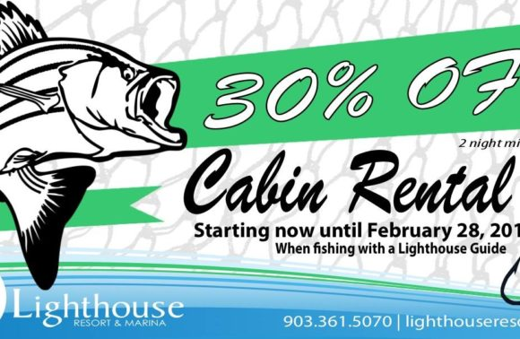 Fish and Stay – 30% Cabin Rentals