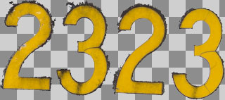 Letters and numbers decals 0012