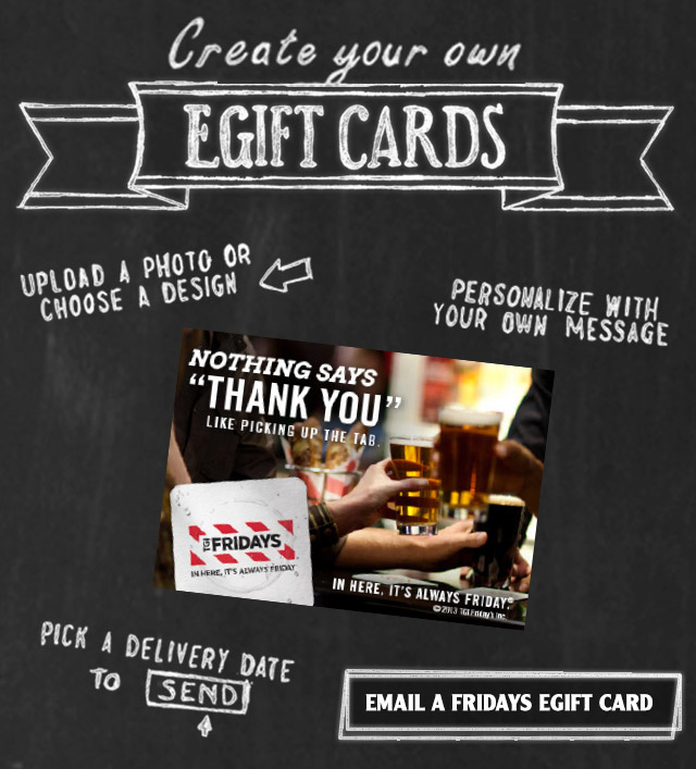 Create your own E-Gift Cards