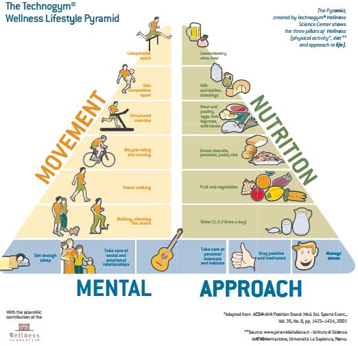 Wellness Lifestyle Pyramid