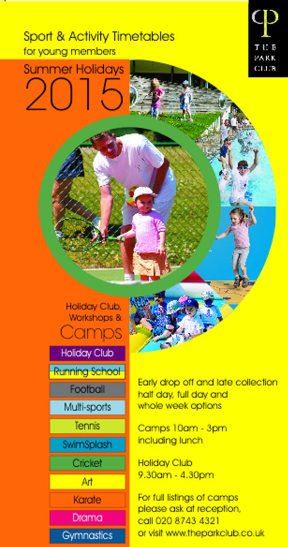 Summer Camps at The Park Club, Acton