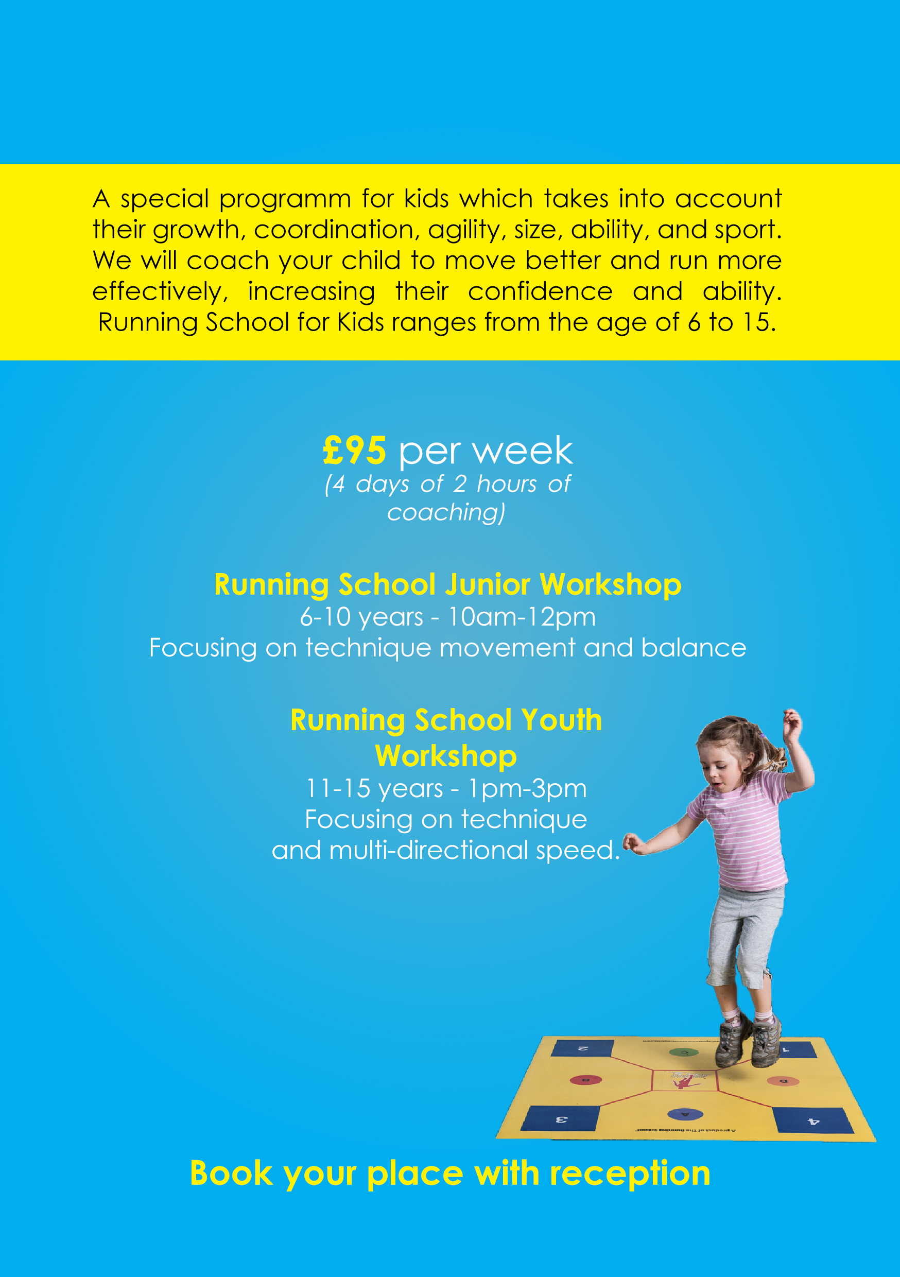 Running School Workshops for kids at The Park Club