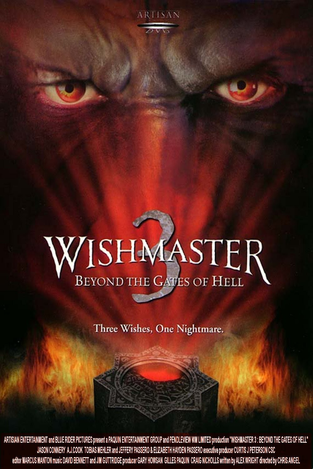 Wishmaster 3: Beyond the Gates of Hell poster
