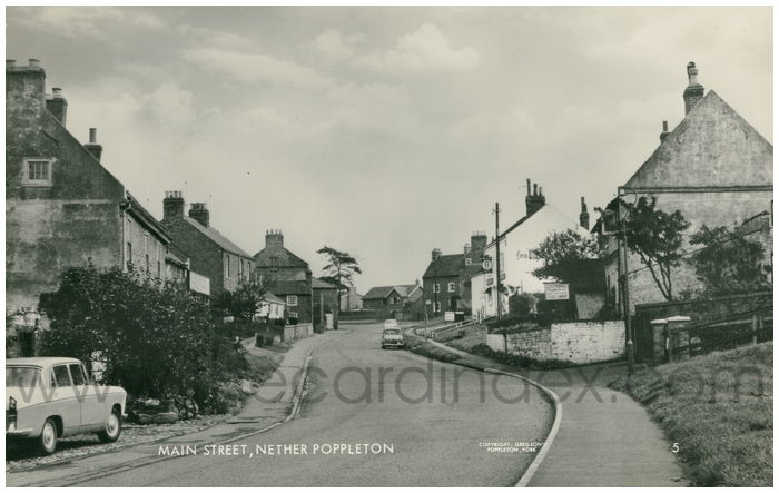 Postcard front: Main Street, Nether Poppleton