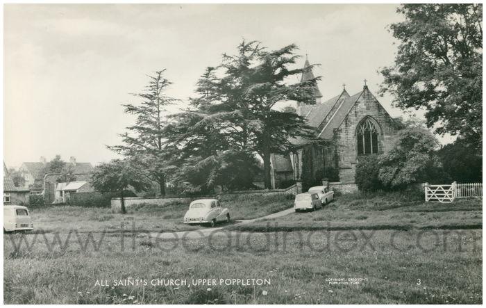Postcard front: All Saint's Church, Upper Poppleton