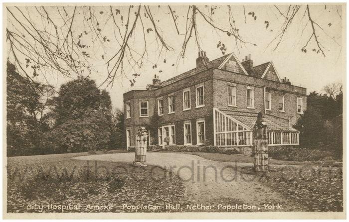 Postcard front: City Hospital Annexe - Poppleton Hall, Nether Poppleton, York