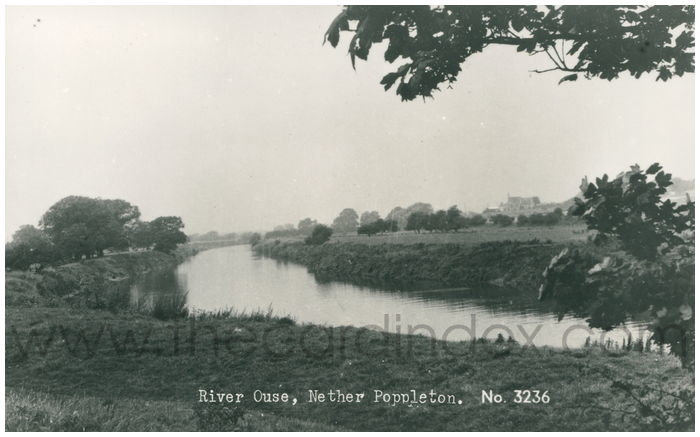 Postcard front: River Ouse, Nether Poppleton.