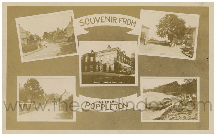 Postcard front: Souvenir from Nether Poppleton