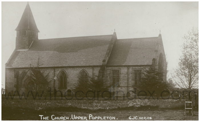Postcard front: The Church. Upper Poppleton
