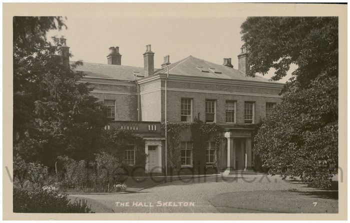 Postcard front: The Hall Skelton