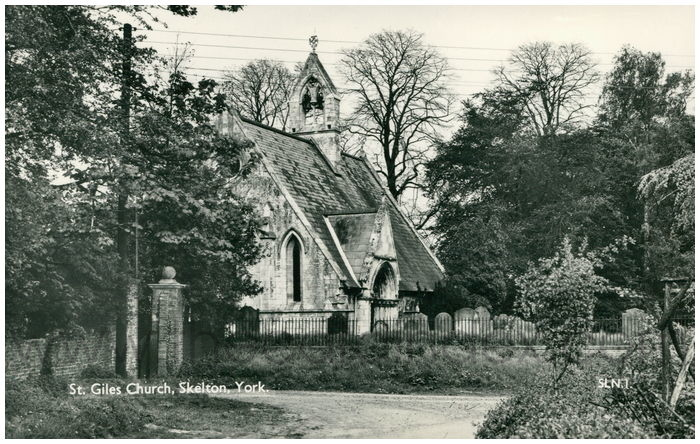 Postcard front: St. Giles Church, Skelton, York