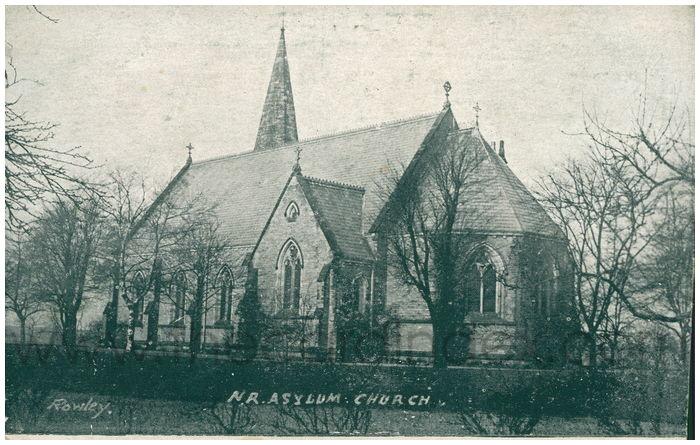 Postcard front: N.R.Asylum Church