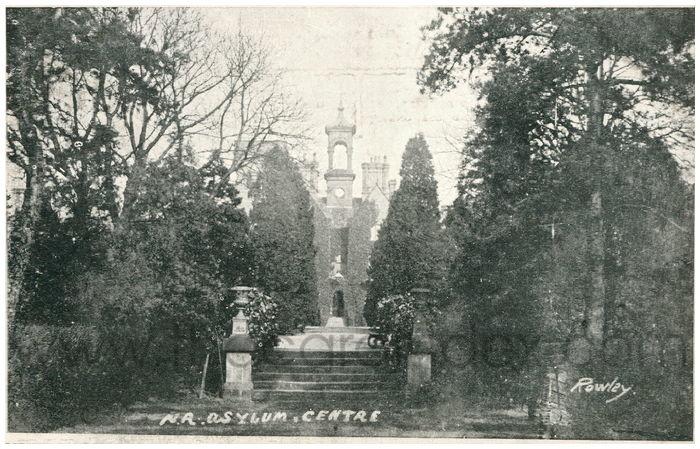 Postcard front: N.R. Asylum Centre
