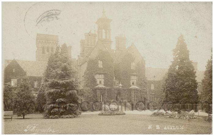 Postcard front: N R Asylum