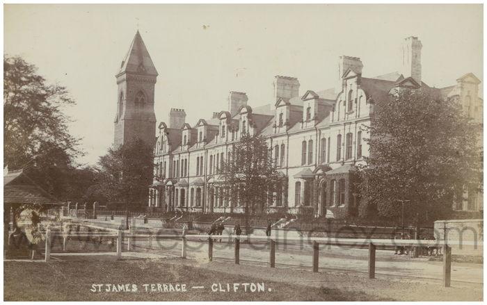 Postcard front: St James Terrace - Clifton