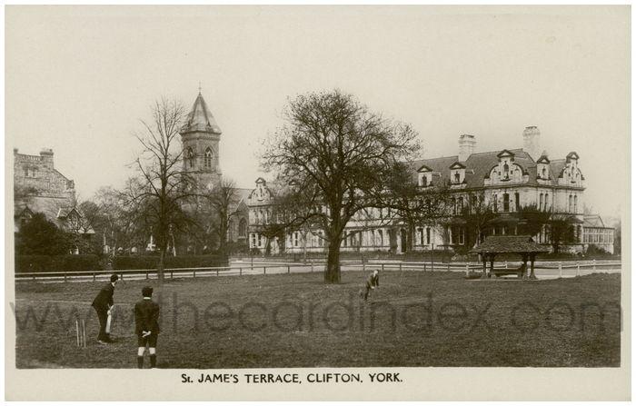 Postcard front: St. James Terrace, Clifton, York