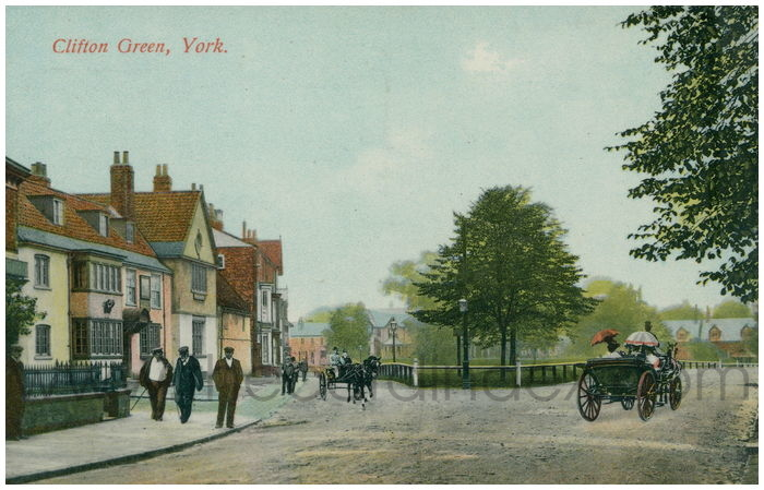 Postcard front: Clifton Green, York