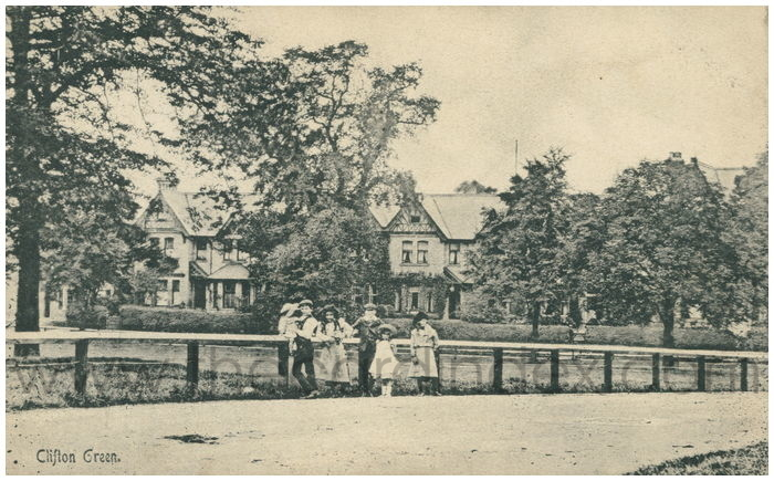 Postcard front: Clifton Green
