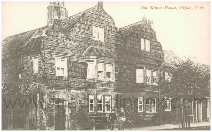 Postcard front: Old Manor House, Clifton, York