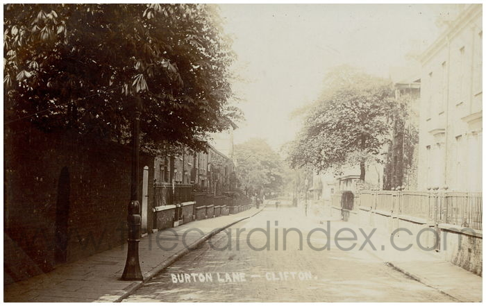 Postcard front: Burton Lane - Clifton