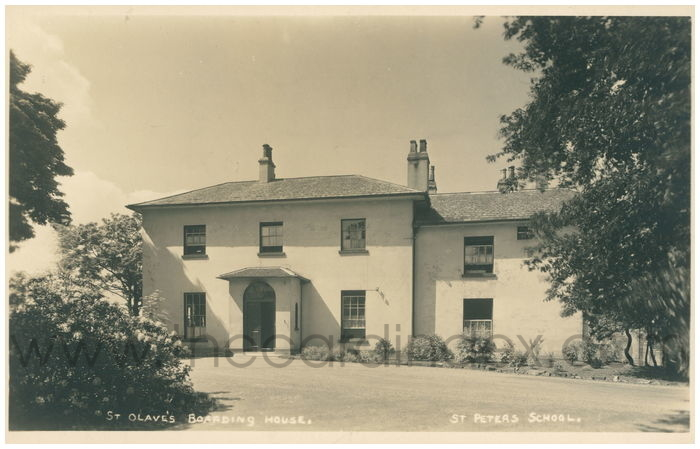 Postcard front: St Olave's Boarding House. St Peters School
