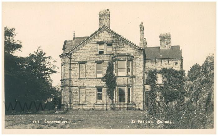 Postcard front: The Sanatorium St Peters School