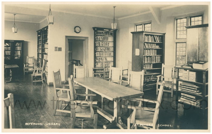 Postcard front: Reference Library St Peters School