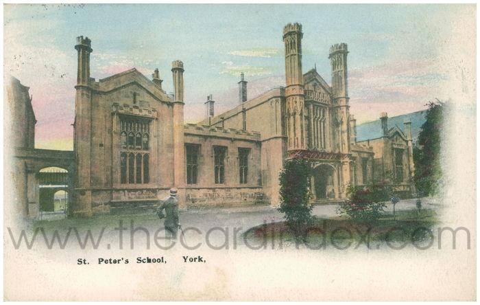 Postcard front: St. Peter's School, York