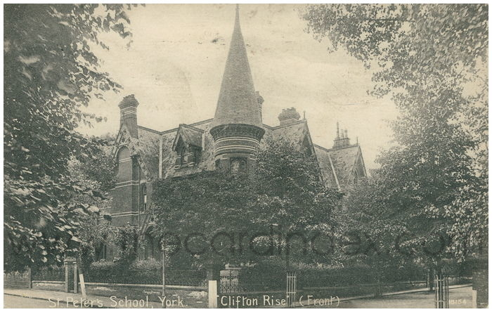 Postcard front: St. Peter's School, York -