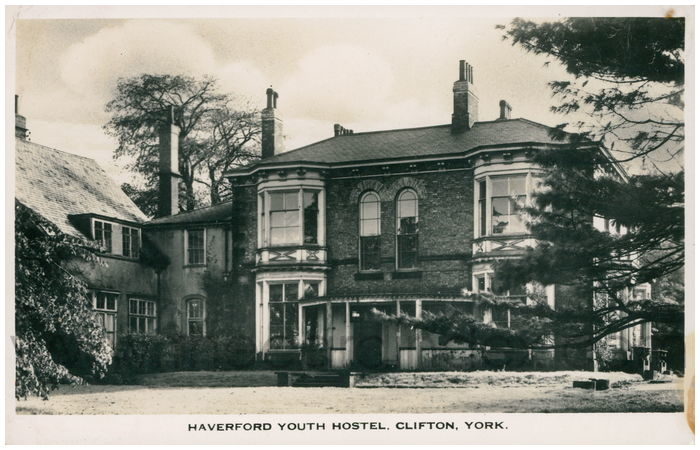 Postcard front: Haverford Youth Hostel