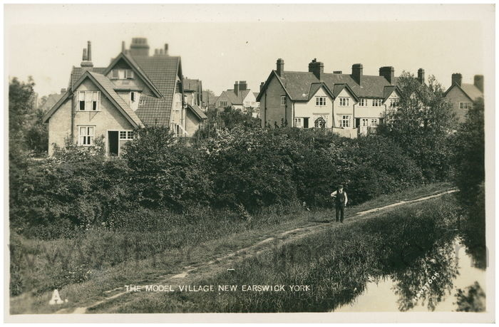 Postcard front: The Model Village New Earswick