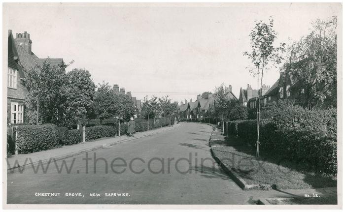 Postcard front: Chestnut Grove, New Earswick