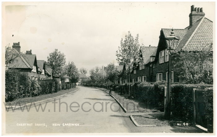 Postcard front: Chestnut Grove, New Earswick