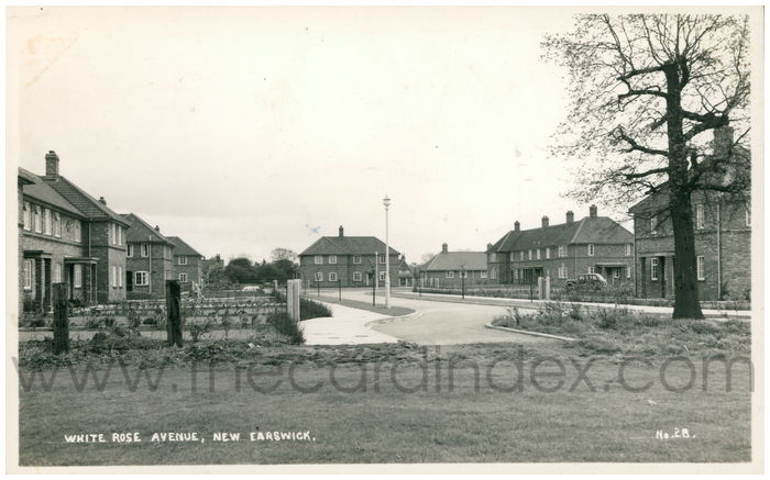 Postcard front: White Rose Avenue, New Earswick