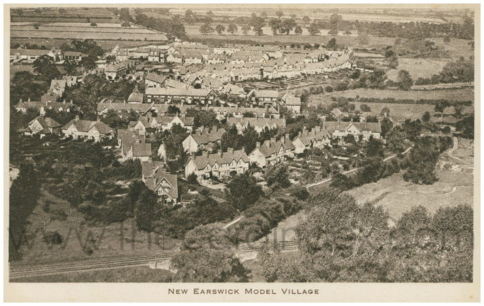 Postcard front: New Earswick Model Village