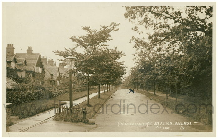 Postcard front: (New Earswick) - Station Avenue -