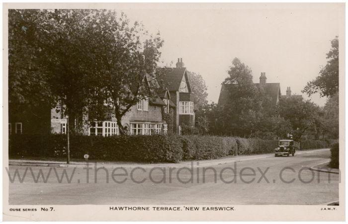 Postcard front: Hawthorne Terrace. New Earswick