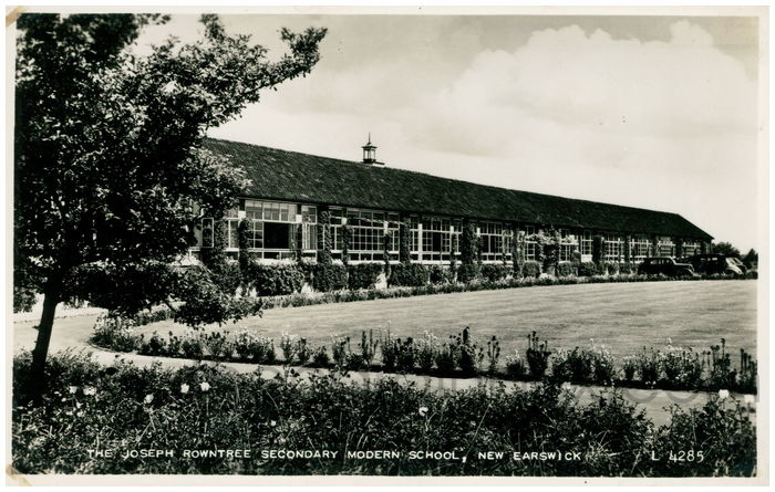 Postcard front: The Joseph Rowntree Secondary Modern School, New Earswick