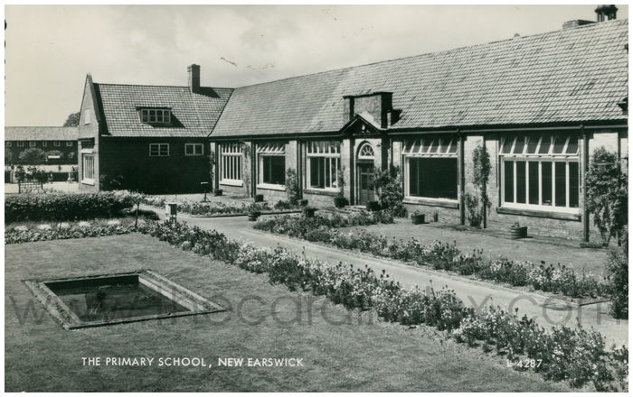 Postcard front: The Primary School, New Earswick