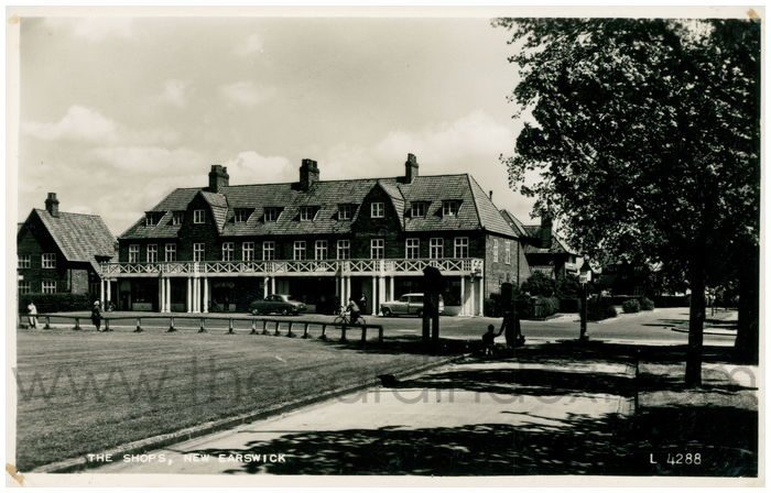 Postcard front: The Shops, New Earswick