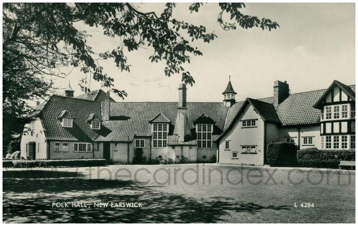 Postcard front: Folk Hall, New Earswick
